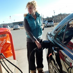 Gas prices creep up, but still well below 2008 costs