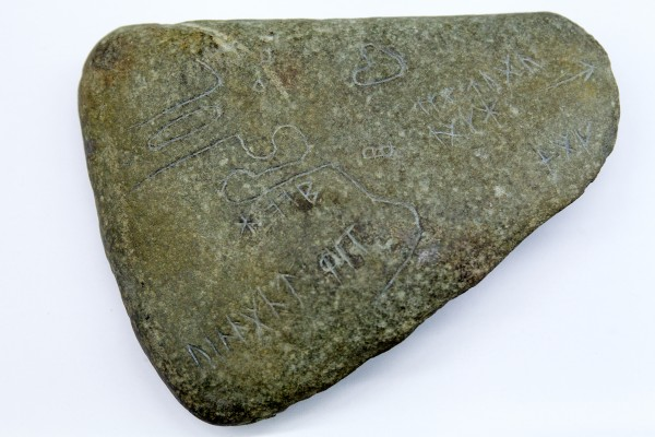 Scott Wolter, a forensic geologist and host of a popular cable television show, believes a trio of inscribed stones found near Spirit Pond in Phippsburg more than 40 years ago are evidence that the famed Knights Templar fled to Maine, among other North American sites, after their persecution in 1307.