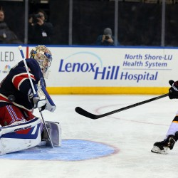 Lundqvist saves 42 in NYR 3-0 win over Bruins