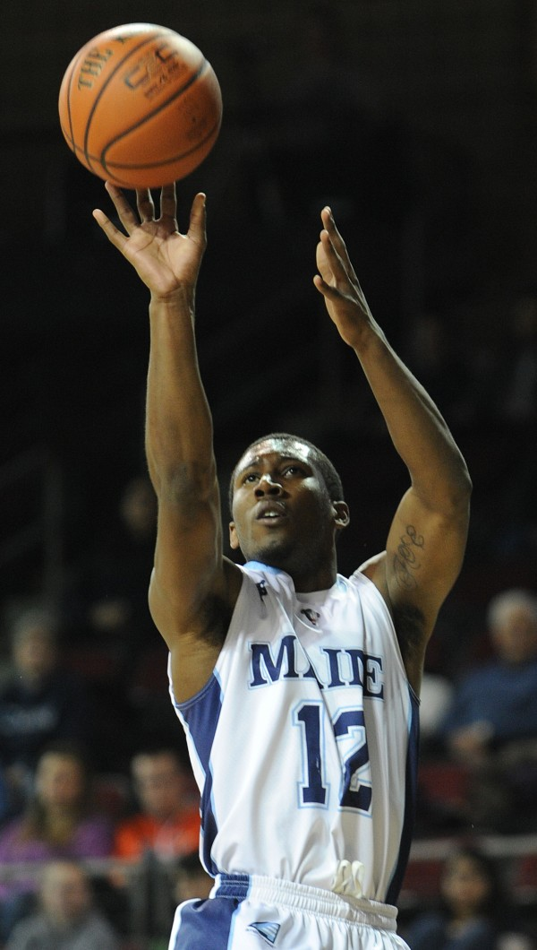 Junior point guard Xavier Pollard is leading Maine with a 14.9 points per game scoring average entering Saturday night's America East quarterfinal against Stony Brook in Albany, N.Y.