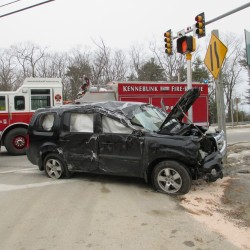 Arundel woman, two children injured after vehicle crashes, rolls over