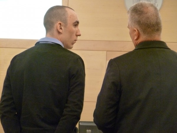 Alan Richmond, 21, of Brewer (left) appears Thursday at the Penobscot Judicial Center with his attorney, Stephen Smith of Bangor. Richmond pleaded guilty to a sex charge. He will be sentenced in April.