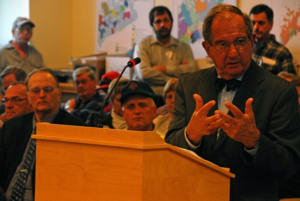 Attorney Harold Pachios speaks during a legislative hearing in Augusta on Wednesday, March 5, 2014.