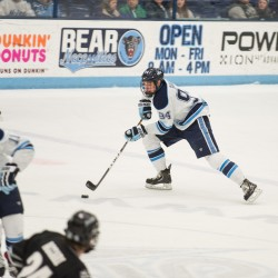 UMaine center Shore ready for challenge when BC visits Alfond Arena Saturday night