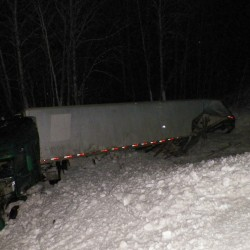 Tractor-trailer hits another truck on Route 2