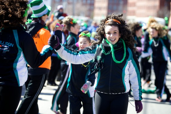 Students of the Stillson School of Irish Dance perform in Portland's annual St. Patrick's Day parade in Portland on Sunday. The school, founded by Carlene Moran Stillson, has been teaching Irish dance for over 20 years.