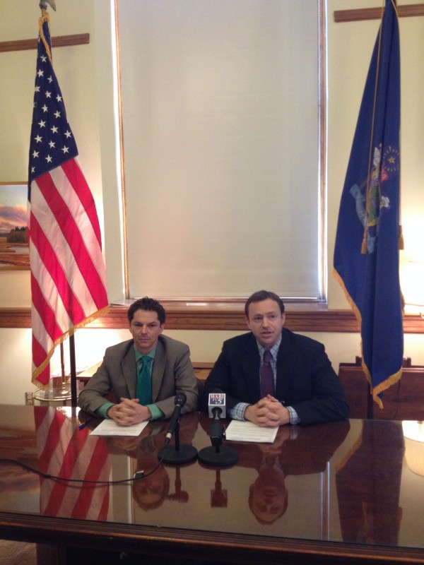 Senate President Justin Alfond, D-Portland, and House Speaker Mark Eves, D-North Berwick, called Monday for Gov. Paul LePage to release $79.5 million of voter-approved bonds to fund infrastructure projects throughout the state.