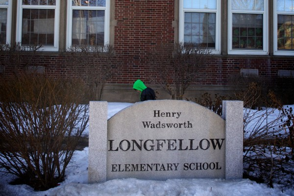 A student leaves school at the end of the day on Monday at Longfellow Elementary School.  Portland Board of Public Education Chairwoman Sarah Thompson gave the annual &quotstate of the schools&quot report to the city council Monday night.