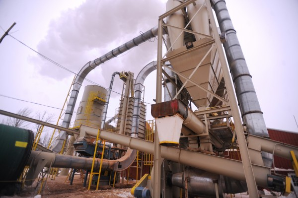 In this February 2014 file photo, raw material processing equipment is shown at the Corinth Wood Pellets in Corinth.