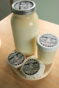 Fresh milk and cheese from Wholesome Holmstead Farm in Winthrop.