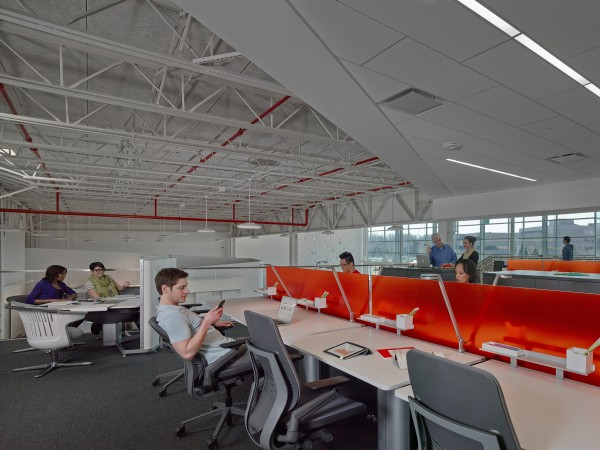 Different work configurations for the workplace of the future are on display at Red Thread in Portland.