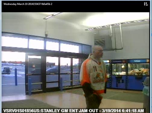 Bangor police are looking to speak to this man, a person of interest in a stolen vehicle case.