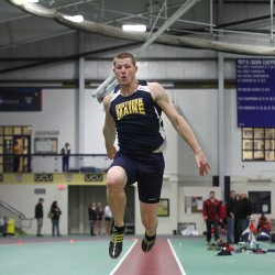 Jamie Ruginski of the University of Southern Maine, a junior from Buxton, won the triple jump title on March 15 during the NCAA Division III indoor track and field championships.