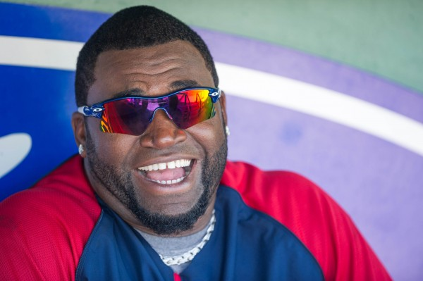 Boston Red Sox designated hitter David Ortiz is interviewed before the game between the Red Sox and the New York Yankees at JetBlue Park in Fort Myers, Fla., Thursday.