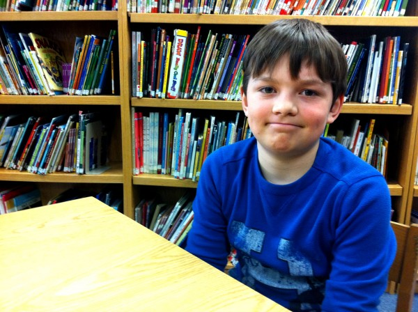 Evan Bolstridge, 9, received a $100 college scholarship from the Maine College Circle. &quotI was laughing and crying at the same time,&quot he said, recalling the moment he found out he had won the scholarship.