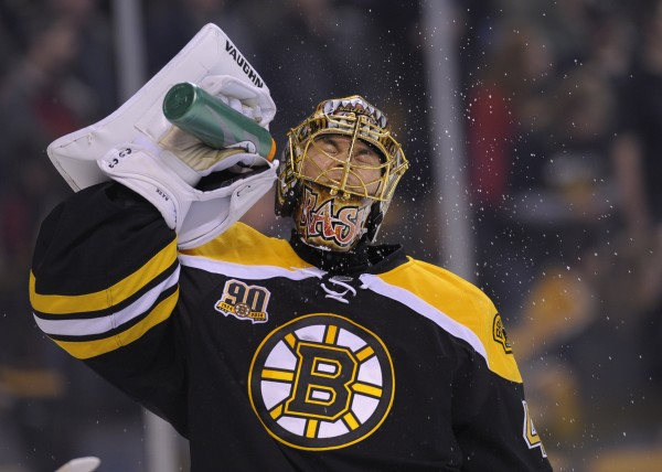 Boston Bruins goalie Tuukka Rask