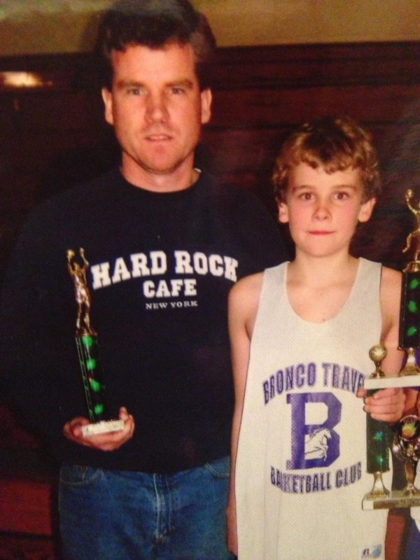 Basketball was a primary common bond for Zach Gilpin and his late father Peter Gilpin, who coached his son's travel basketball team for several years.