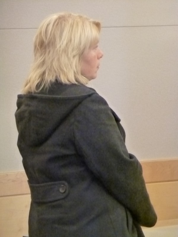 Jaime Meservey pleaded no contest to stealing more than $20,000 from a community center in Newport at the Penobscot Judicial Center on Monday.