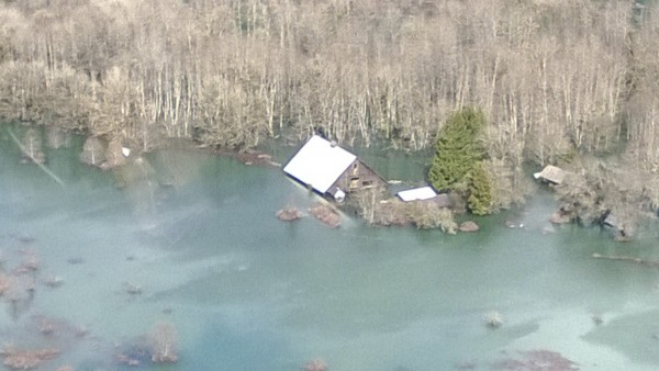 An aerial view of the area affected by a landslide near State Route 530 is seen in this handout photo provided by the Governor Jay Inslee's office taken near Oso, Washington March 23, 2014.