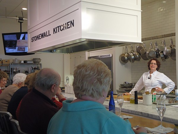 Chef Christine Rudalevige addresses the class at Stonewall Kitchen School last week.