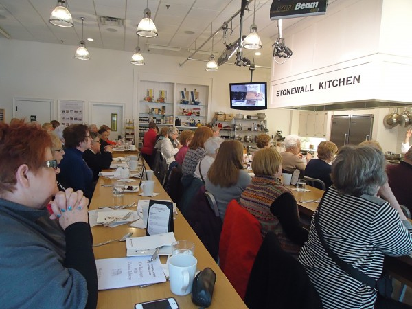 A busload of tourists from Massachusetts sampled and learned at the Stonewall Kitchen Cooking School last week.