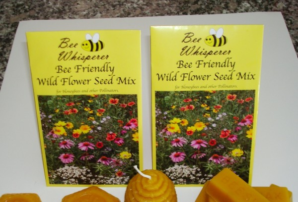 Wild flower seeds for planting a Bee Friendly garden.