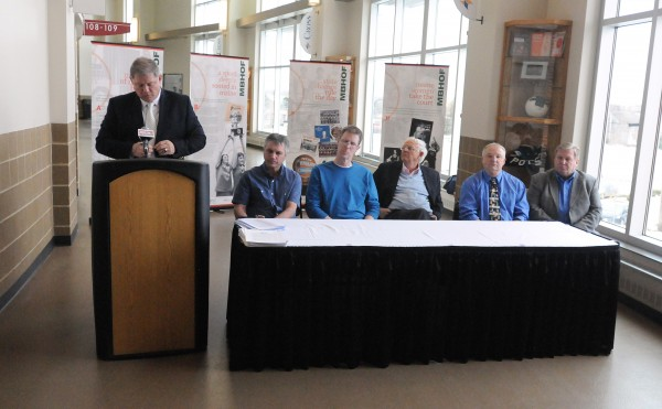 Officials with the Maine Basketball Hall of Fame held a Wednesday press conference at the Cross Insurance Center in Bangor announcing inductees in the inaugural Hall of Fame class of 2014. The Cross Insurance Center will be home to the Maine Basketball Hall of Fame.