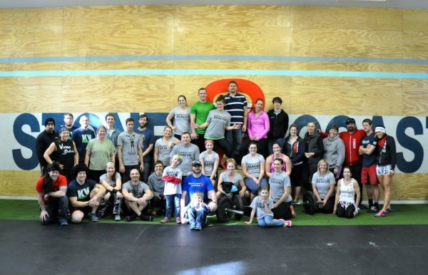 The participants of the first annual Barbells for Beacon fundraiser.