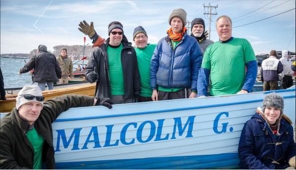 Crew of the &quotMalcolm G&quot from left to right:   John Dillenbeck, Ethan Shaw, Greg Stafford, Kyffin Dolliver, Kevin Brown, Jonathan Fulford, and Cox - Rowan Walauski.   Credit: Andrew Lederman  drewledermanphotography.com