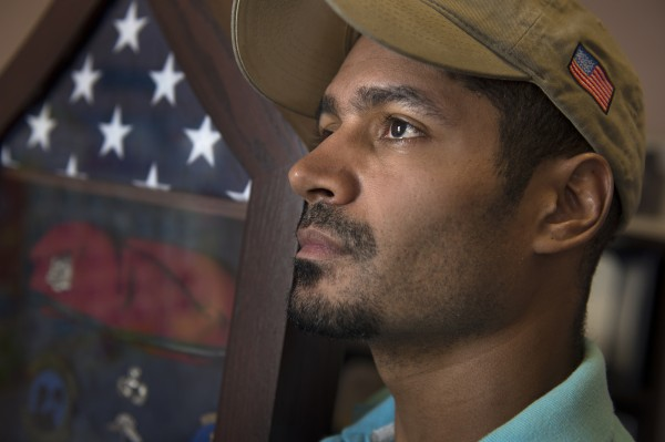 Santino Fort, seen Jan. 30, 2014 at his home in Fayetteville, N.C., deployed twice to Afghanistan and once to Iraq as a member of the Air Force.