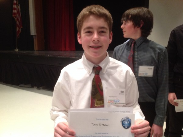 Third place: Dan O'Brien, Bangor High School
