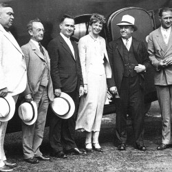 "When aviatrix Amelia Earhart flew to Bangor in 1934, she supposedly took passengers on 10-minute ""joy hops"" above the Queen City. Earhart actually served as a hostess on each flight; the plane's pilot was a man."