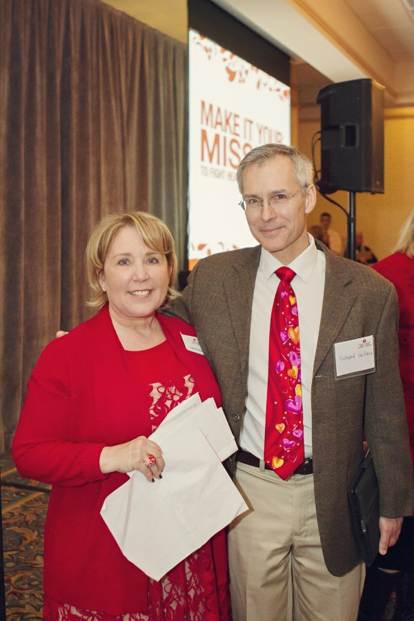 The American Heart Association's Executive Director for Maine, Carrie Fortino, and AHA Board Member Richard Veilleux of MaineHealth.