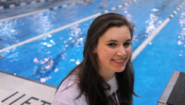 Emma Waddell, a Bangor High School swimmer who is an All-American, and will compete for Williams College next year.