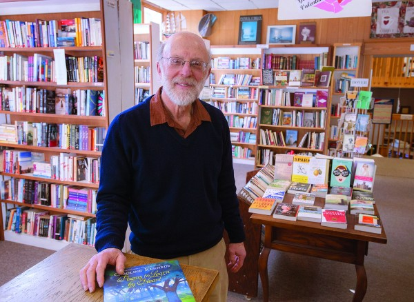Marc Berlin owns BookMarc's, located at the corner of Harlow and Central streets in downtown Bangor.