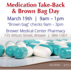 Drug Take Back Day at Brewer Medical Center March 19th