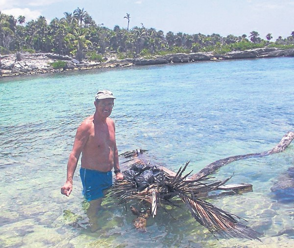 While hiking the Mexican coast In 2007, Wendy Morrill and her father, Rucgard Bailey, hit a wide, deep inlet that was too long and too difficult to circumvent due to the thick jungle and mangrove swamps. Bailey decided to build a raft using an old pallet and a buoyant log. Morrill cut palm fronds to lay over the pallet to float their backpacks, and the pair swam and pushed the raft to the other side of the inlet.