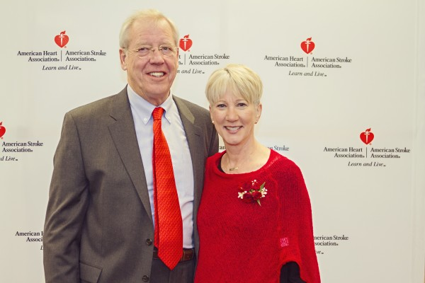 Peter Thornton and Pat Kirby. Kirby shared her personal story of heart attack survival and misdiagnosis.