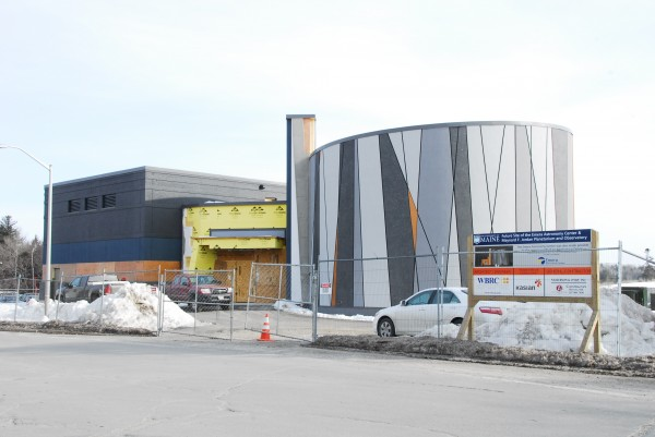 Construction of the new $5.2 million Emera Astronomy Center was well under way at the University of Maine in late February. The all-digital facility will replace the existing Maynard F. Jordan Planetarium and Observatory.