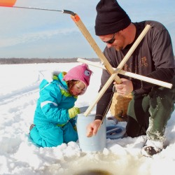 Indoor ice fishing tricks, tactics