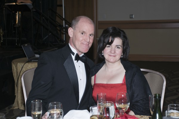 Ric Tyler of WVOM FM, who emceed the live auction, and his wife Elizabeth Sutherland.