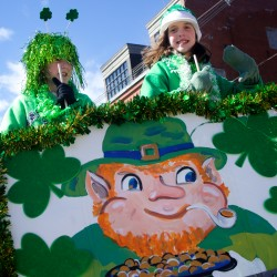 Irish eyes smile as Maine Public Safety Pipe and Drum Corps entertains St. Patrick's revelers