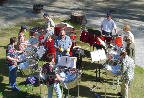 The warm, enticing sounds of Steelin' Thunder Steel Drum Band will be featured at PMHSKC's 5th Annual Tropical Getaway Dance on Saturday, March 22 from 5:00 to 9:00 p.m. at Rockland's American Legion Post One.