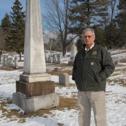 Stephen Burrill has been the superintendent at Mount Hope Cemetery in Bangor since 1992. He is the third generation of his family to serve in this position; his father, Harold S. Burrill Jr., was the superintendent from 1969-1992, and his grandfather, Harold S. Burrill Sr., was superintendent at Mount Hope Cemetery from circa 1930 to 1946.