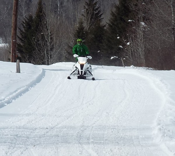 Snowmobile trails in Aroostook County remain in excellent shape. This picture was taken Wed. March 26 In Van Buren.