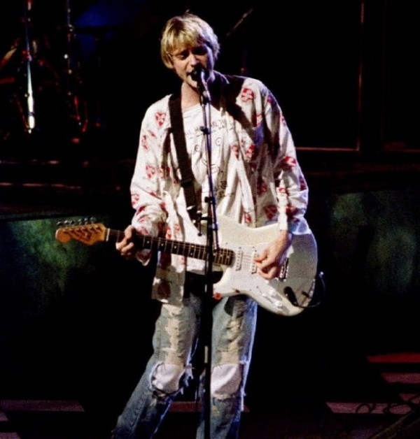Kurt Cobain, lead singer for the 'grunge' rock group Nirvana performs during a at the MTV Music Awards show in Los Angeles in this September 1992 file photo. A cold case investigator has found several rolls of undeveloped film from the scene of Nirvana singer Kurt Cobain's 1994 death, but Seattle police said on March 20, 2014, they do not expect the discovery will alter a finding that he committed suicide.