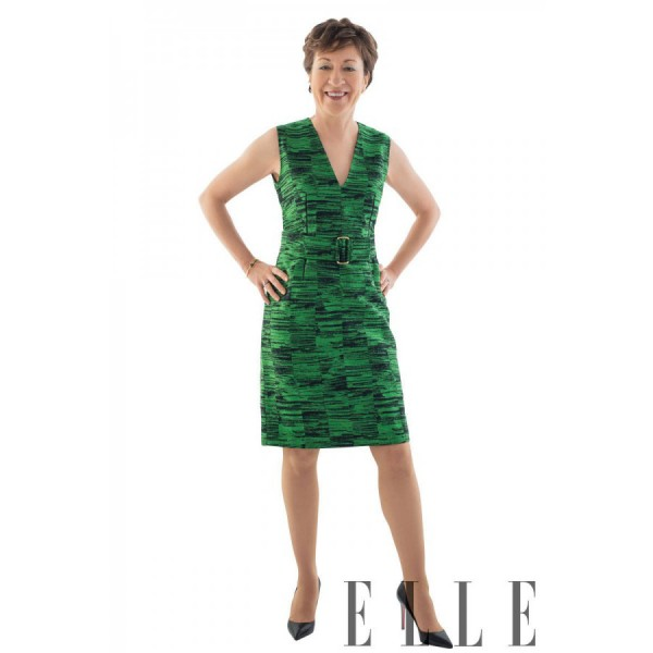 Susan Collins, as seen in the April edition of Elle's 10 Most Powerful Women in Washington list.