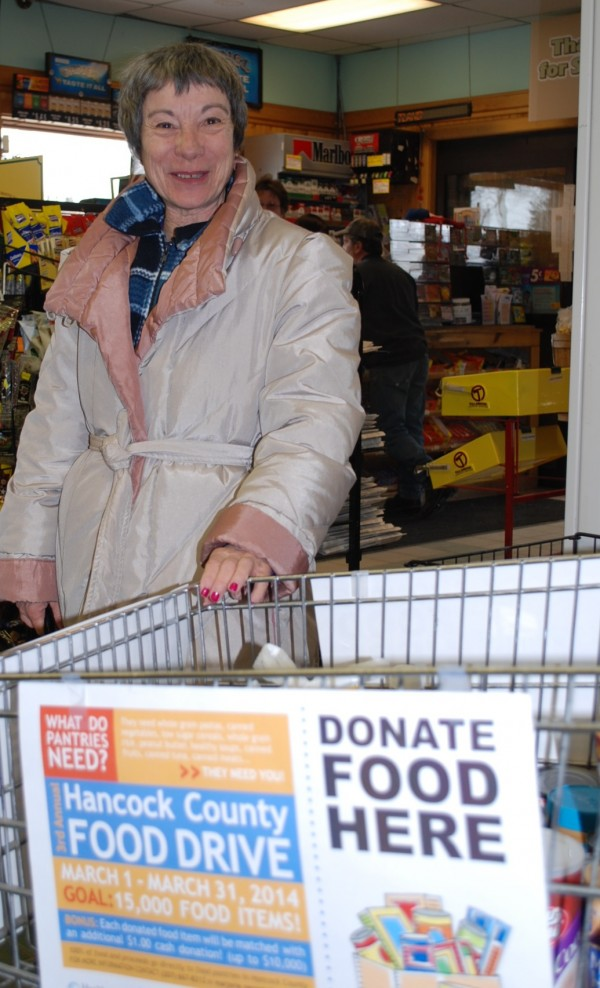 Inez Seibel of Lamoine donates to Food Drive