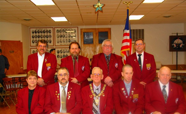 Left front: Lynn Dumas, Jay Russell, Ron McInnis Sr.,Corey Hannafin, Dick Brown. Back Row: Everett hale, Rod Cyr, Ron Darling, and Bruce Jandreau. Missing Gerald Barnes