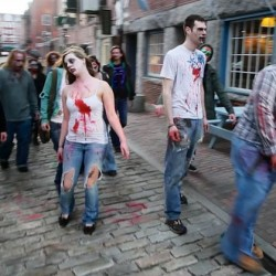 "Zombies chase racers in ""Run For Your Lives"" 5K"